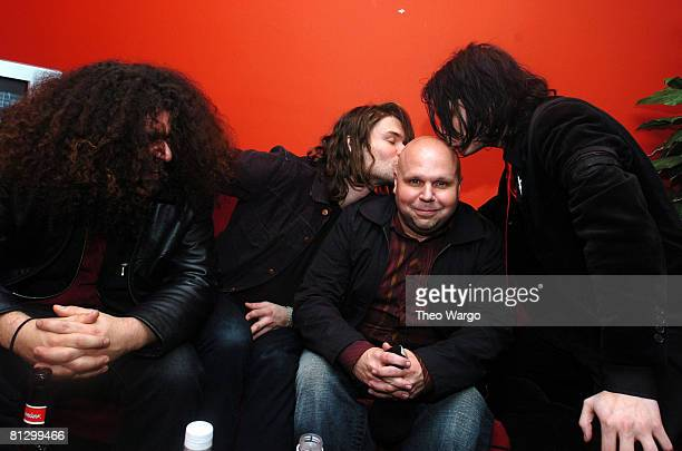Claudio Sanchez of Coheed and Cambria Adam Lazzara of Taking Back Sunday Matt Pinfield and Gerard Way of My Chemical Romance
