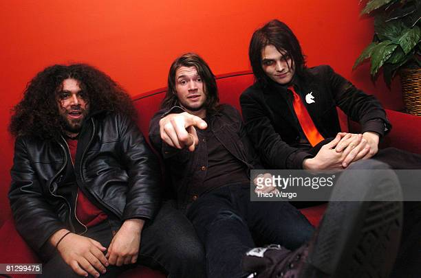 Claudio Sanchez of Coheed and Cambria Adam Lazzara of Taking Back Sunday and Gerard Way of My Chemical Romance