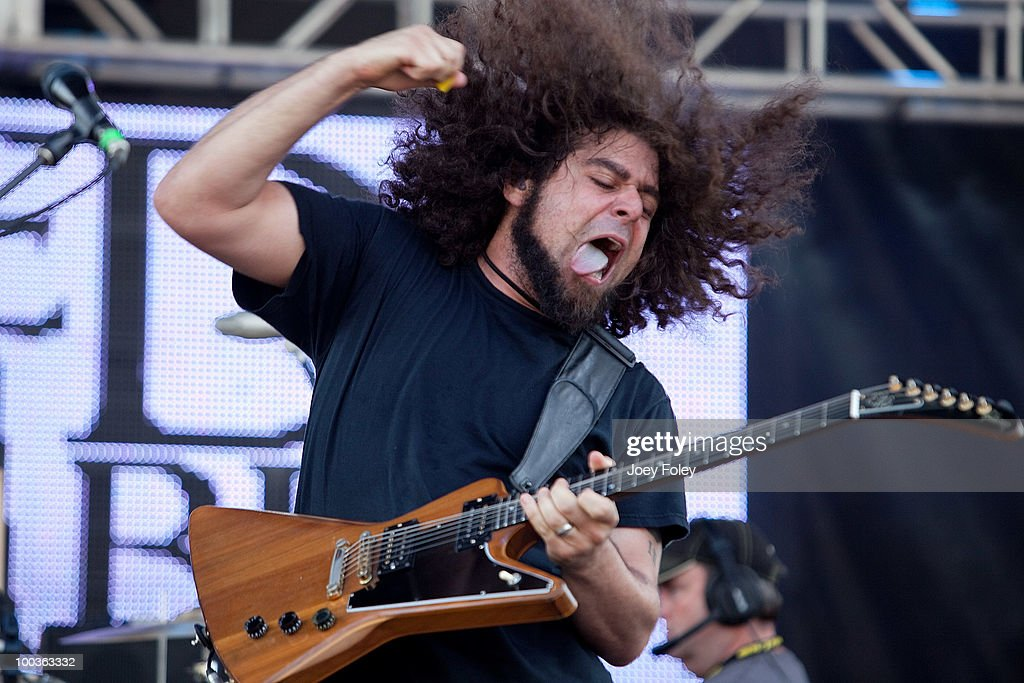 Claudio Sanchez of Coheed and Cambria performs during the 2010 Rock On The Range festival at Crew Stadium on May 23, 2010 in Columbus, Ohio.