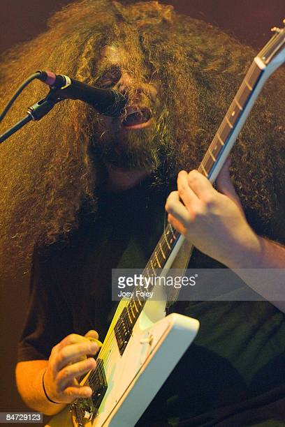 Claudio Sanchez of Coheed and Cambria performs in concert at the Pepsi Coliseum on February 3 2009 in Indianapolis