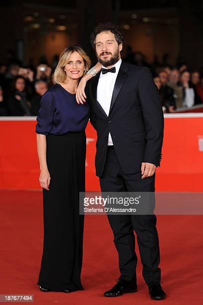 Claudio Santamaria and Isabella Ferrari attend 'Il Venditore Di Medicine' Premiere during The 8th Rome Film Festival on November 11 2013 in Rome Italy