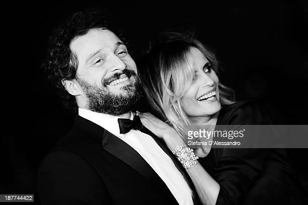 LR Claudio Santamaria and Isabella Ferrari attend 'Romeo and Juliet' Premiere during The 8th Rome Film Festival at Auditorium Parco Della Musica on...