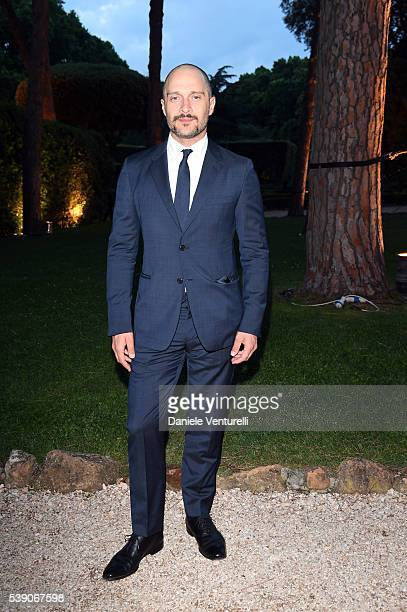 Claudio Santamaria attends McKim Medal Gala In Rome at Villa Aurelia on June 9 2016 in Rome Italy