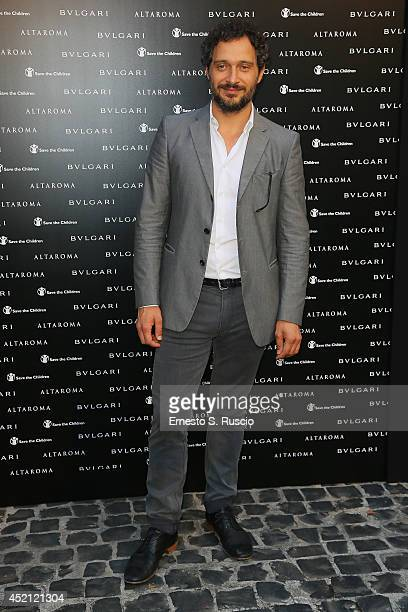 Claudio Santamaria attends the 'Isabella Ferrari Forma/Luce' cocktail party at Horti Sallustiani on July 13, 2014 in Rome, Italy.