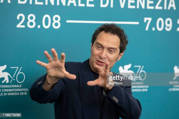 Claudio Santamaria attends the ''Tutto il mio folle amore'' Photocall during the 76th Venice Film Festival at on September 06, 2019 in Venice, Italy.