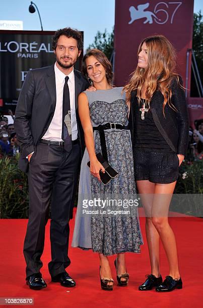 Claudio Santamaria Delfina Fendi and Bianca Brandolini attend the Somewhere premiere during the 67th Venice Film Festival at the Sala Grande Palazzo...
