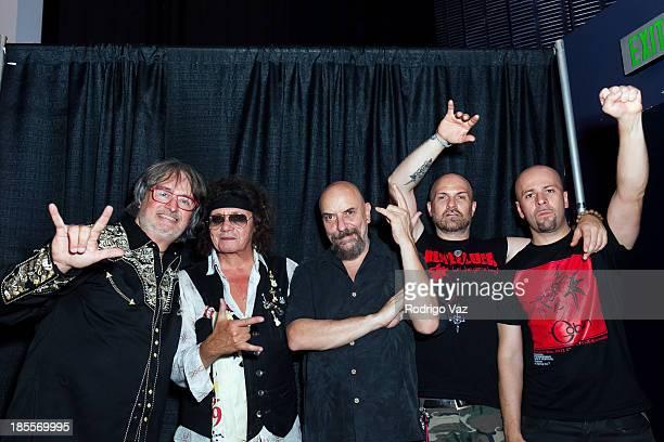 Claudio Simonetti Massimo Morante Maurizio Guarini Titta Tani and Bruno Previtali of Goblin attend Goblin Giallo Live In Concert presented by Amity...