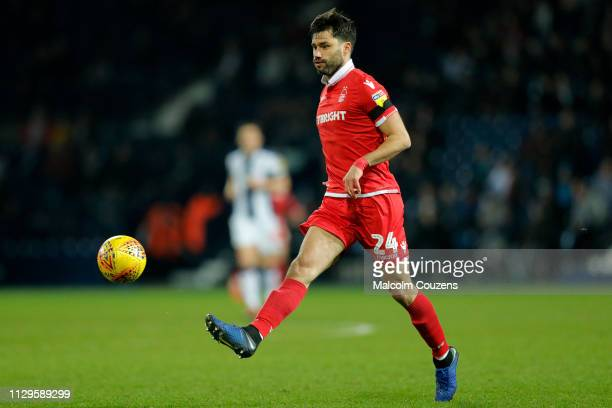 Claudio Yacob of Nottingham Forest passes the ball during the Sky Bet Championship game between West Bromwich Albion and Nottingham Forest at The...