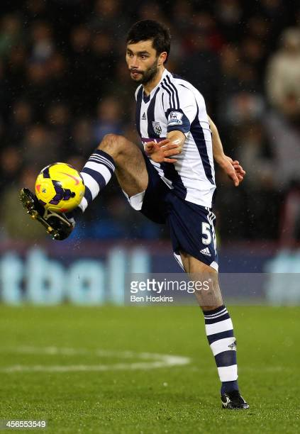 Claudio Yacob of West Brom in action during the Barclays Premier League match between Cardiff City and West Bromwich Albion at Cardiff City Stadium...