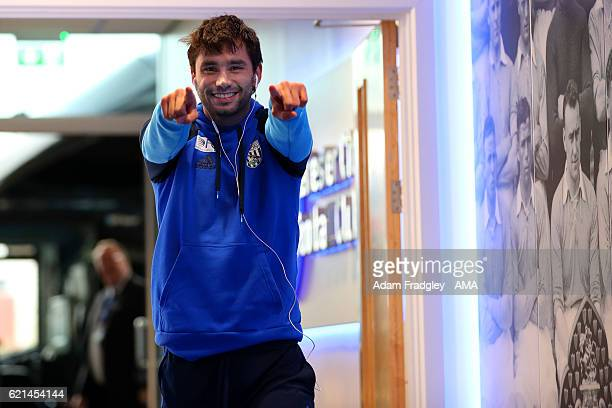 Claudio Yacob of West Bromwich Albion before the Premier League match between Leicester City and West Bromwich Albion at The King Power Stadium on...