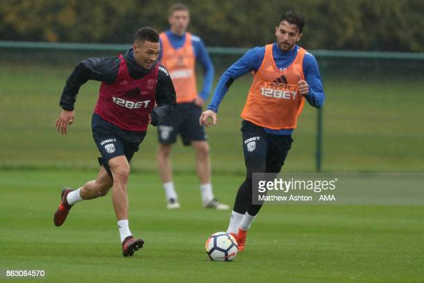 Claudio Yacob of West Bromwich Albion during a West Bromwich Albion Training Session on October 19 2017 in West Bromwich England