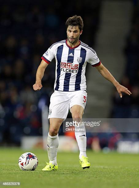 Claudio Yacob of West Bromwich Albion during the Capital One Cup Second Round match between West Bromwich Albion and Port Vale at The Hawthorns on...