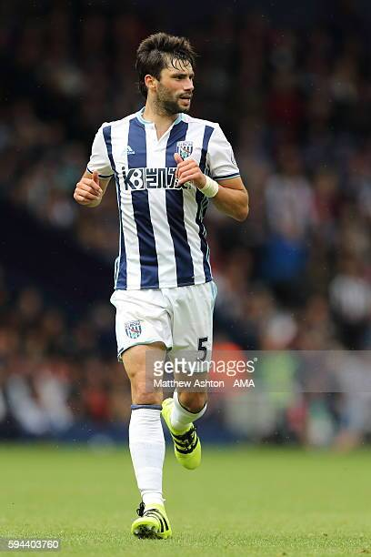 Claudio Yacob of West Bromwich Albion during the Premier League match between West Bromwich Albion and Everton at The Hawthorns on August 20 2016 in...