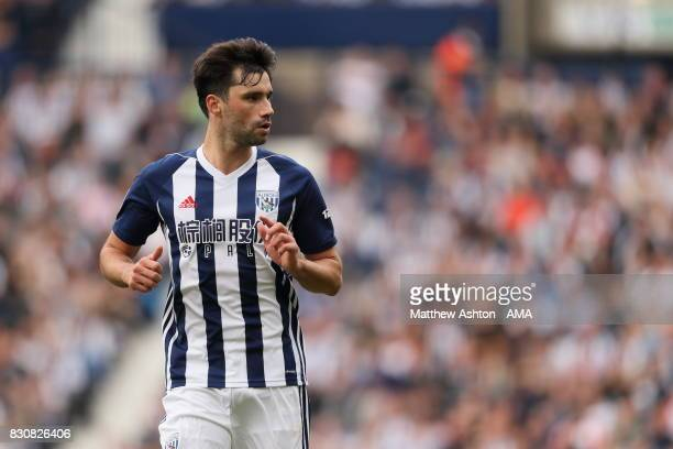 Claudio Yacob of West Bromwich Albion during the Premier League match between West Bromwich Albion and AFC Bournemouth at The Hawthorns on August 12...