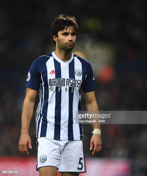 Claudio Yacob of West Bromwich Albion during the Premier League match between West Bromwich Albion and Newcastle United at The Hawthorns on November...