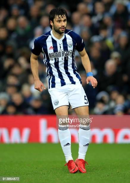Claudio Yacob of West Bromwich Albion during the Premier League match between West Bromwich Albion and Southampton at The Hawthorns on February 3...