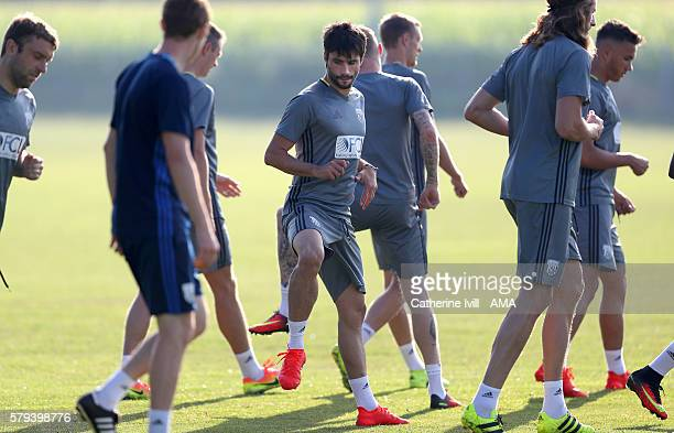 Claudio Yacob of West Bromwich Albion during the West Bromwich Albion training session on July 21 2016 in Venlo Netherlands
