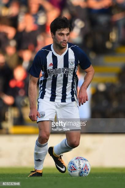 Claudio Yacob of West Bromwich Albion in action during the pre season friendly match between Burton Albion and West Bromwich Albion at Pirelli...