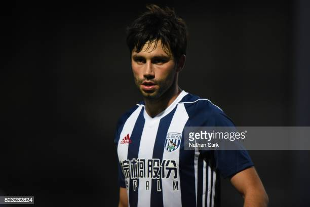 Claudio Yacob of West Bromwich Albion looks on during the pre season friendly match between Burton Albion and West Bromwich Albion at Pirelli Stadium...