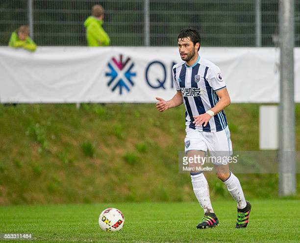 Claudio Yacob of West Bromwich Albion seen with ball during a friendly match against Paris St Germain on July 13 2016 in Schladming Austria