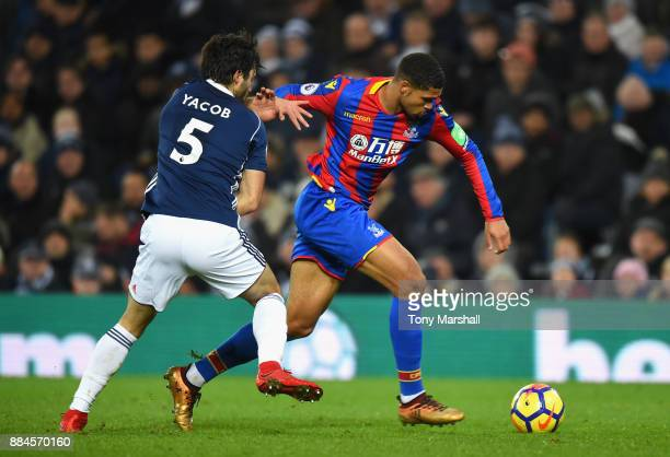 Claudio Yacob of West Bromwich Albion tackles Ruben LoftusCheek of Crystal Palace during the Premier League match between West Bromwich Albion and...