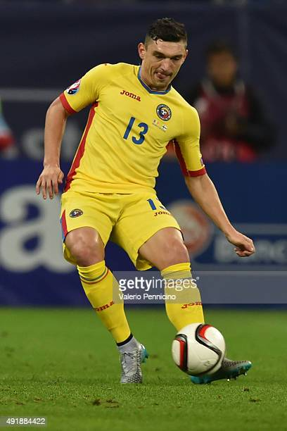 Claudiu Keseru of Romania in action during the UEFA EURO 2016 Qualifier between Romania and Finland on October 8 2015 in Bucharest Romania