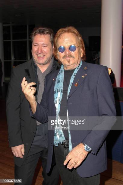 Claudius Dreilich of the band Karat and Frank Zander during the Brandenburgball on January 26 2019 in Potsdam Germany