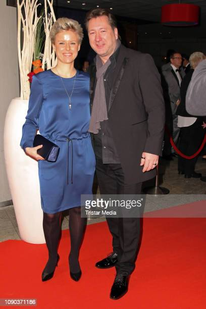 Claudius Dreilich of the band Karat and his wife Belinda Dreilich during the Brandenburgball on January 26 2019 in Potsdam Germany