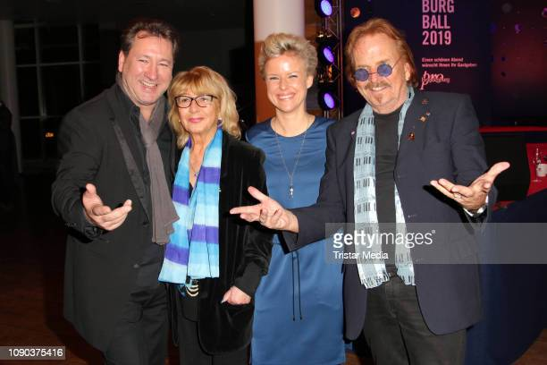Claudius Dreilich of the band Karat and his wife Belinda Dreilich Frank Zander and his wife Evi Zander during the Brandenburgball on January 26 2019...