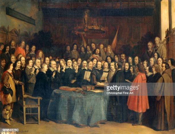 Claudius Jacquand The Peace of Westphalia The Swearing of the Oath of Ratification of the Treaty of Munster between Spanish and Dutch May 15th 1837...