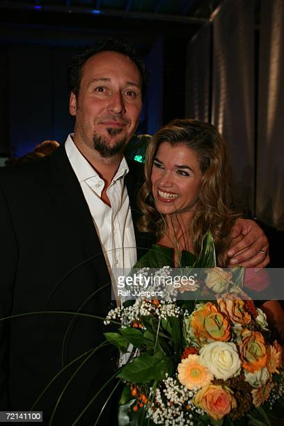 Claus Fischer and his wife Anke Engelke attend the after show party of German Comedy Award at The Coloneum on October 10 2006 in Cologne Germany