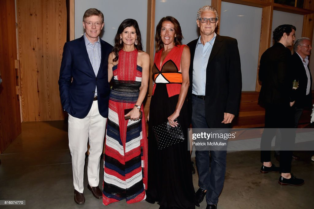 Claus Moller, Tiffany Moller, Laura Dubin Wander and David Wander attend the Midsummer Party 2017 at Parrish Art Museum on July 15, 2017 in Water Mill, New York.