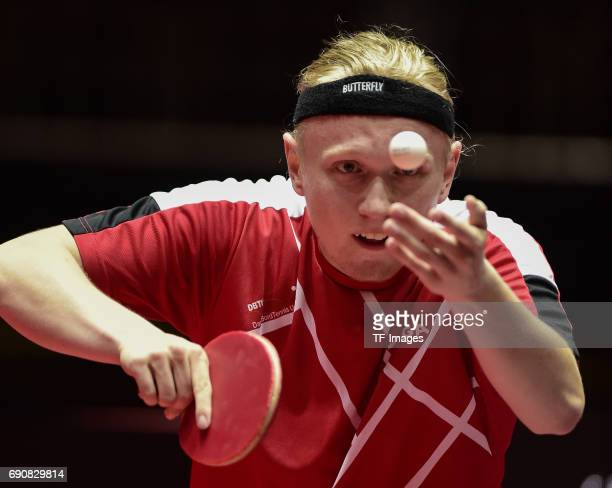 Claus Nielsen of Denmark in action during the Table Tennis World Championship at Messe Duesseldorf on May 29, 2017 in Dusseldorf, Germany.