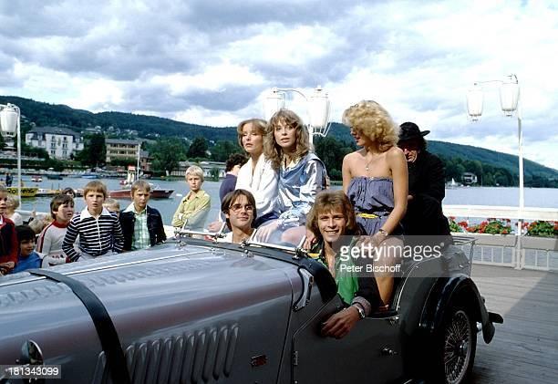 "Claus Obalski, Benny Schnier , Gesa Garbor, Olivia Pascal, Bea Fiedler , Herbert Fux , RTL-Film, ""Himbeereis und Popcorn"", Wöthersee, Kärnten, ;..."