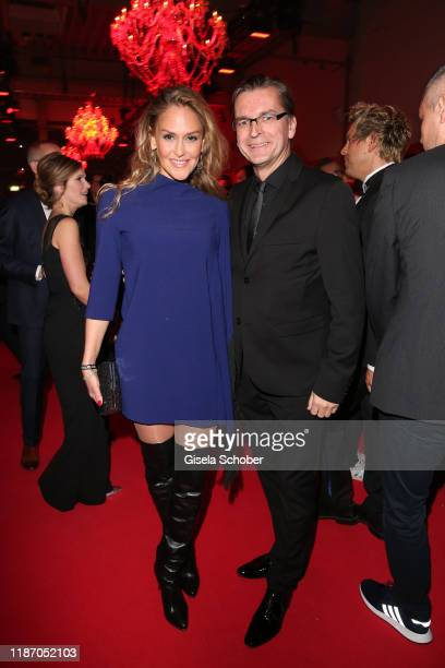 Claus Strunz and Daniela Oliel during the Ein Herz Fuer Kinder Gala at Studio Berlin Adlershof on December 7 2019 in Berlin Germany