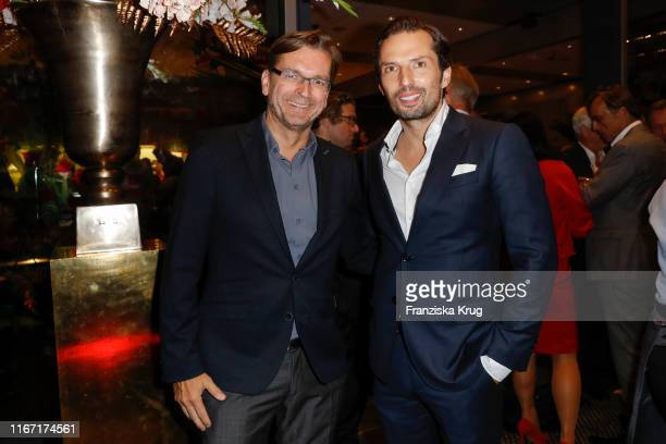 Claus Strunz and Quirin Berg during the Bild 100 summer party on September 9 2019 in Berlin Germany