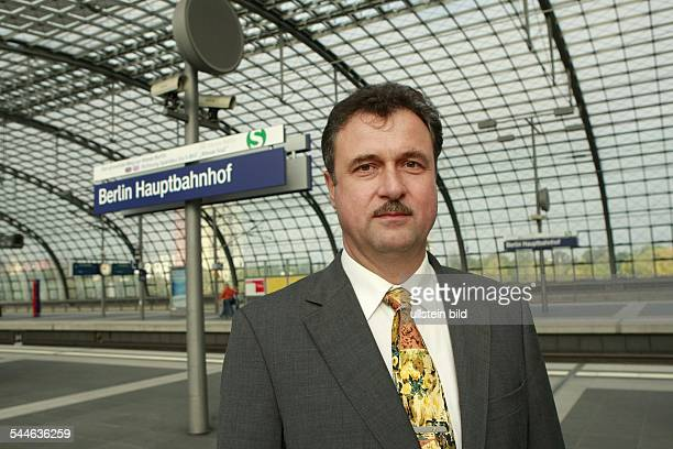 Claus Weselsky - Vice Chairman of the Engine Driver Trade Union GDL - at the Berlin Central Station
