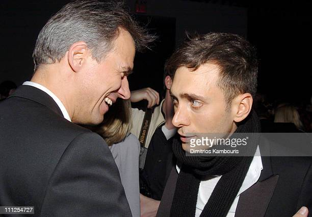 ClausDieterch Lahrs COO of Christian Dior Couture with Hedi Slimane