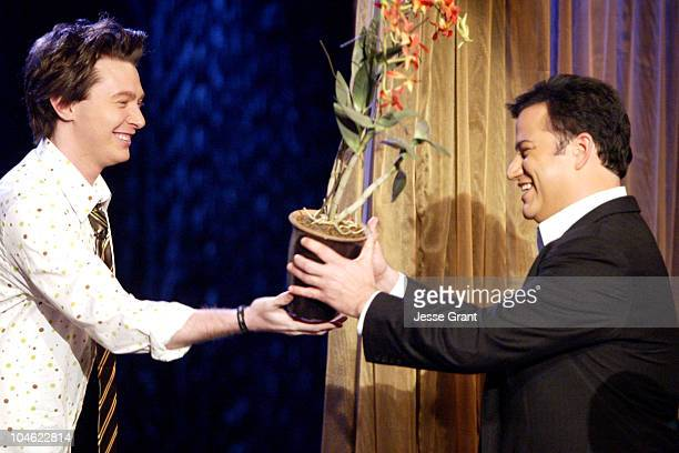 Clay Aiken and Host Jimmy Kimmel on the 'Jimmy Kimmel Live' show on ABC Photo by Jesse Grant/WireImagecom/ABC