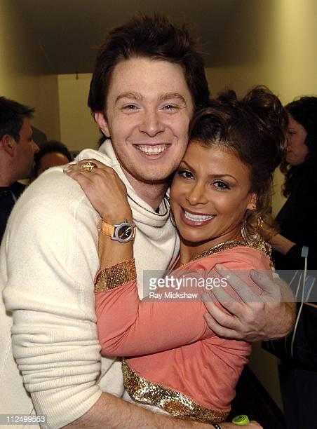 "Clay Aiken and Paula Abdul, judge during ""American Idol"" Season 4 - Results Show - April 27, 2005 at American Idol Studios in Los Angeles,..."