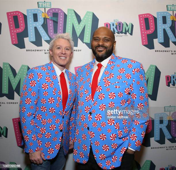 Clay Aiken and Ruben Studdard attend the Broadway Opening Night of The Prom at The Longacre Theatre on November 15 2018 in New York City