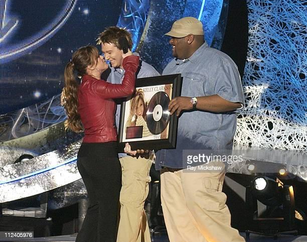 Clay Aiken and Ruben Studdard winners of 'American Idol' Season 2 and Kelly Clarkson winner of 'American Idol' Season 1