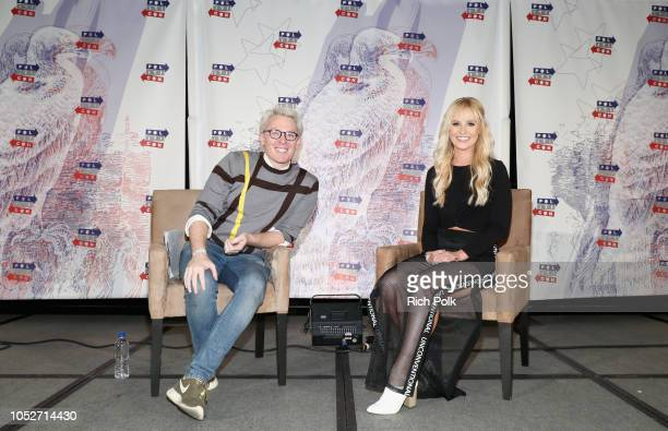 Clay Aiken and Tomi Lahren attend Politicon 2018 at Los Angeles Convention Center on October 21, 2018 in Los Angeles, California.