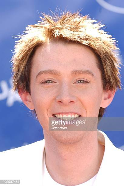 Clay Aiken during American Idol 2 Finals Arrivals at Universal Amphitheatre in Universal City CA United States