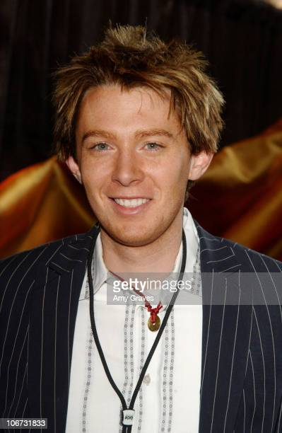 Clay Aiken during American Idol Season 2 Finale Backstage Creations Talent Retreat Day 1 at Universal Studios in Universal City California United...