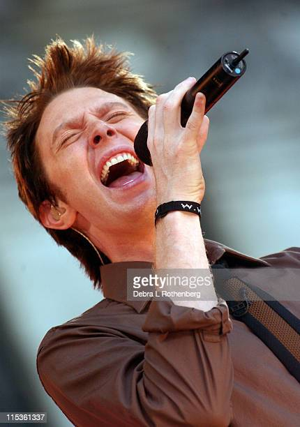 Clay Aiken during Clay Aiken Performs on Good Morning America Summer Concert Series July 2 2004 at Bryant Park in New York City New York United States