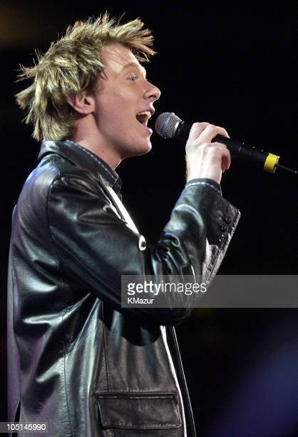 Clay Aiken during Z100's Zootopia 2003 Show at Giants Stadium in East Rutherford New Jersey United States
