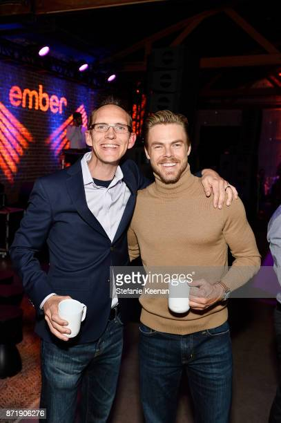 Clay Alexander and Derek Hough at Ember celebrates VIP launch event with Iggy Azalea on November 8 2017 in Los Angeles California