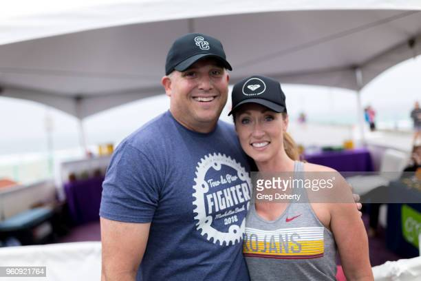 Clay and Angela Helton attends the 6th Annual Tour de Pier at Manhattan Beach Pier on May 20 2018 in Manhattan Beach California