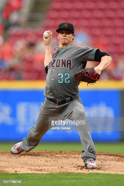 Clay Buchholz of the Arizona Diamondbacks pitches against the Cincinnati Reds at Great American Ball Park on August 10 2018 in Cincinnati Ohio